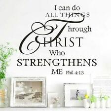 I CAN DO ALL THINGS THROUGH CHRIST PHILIPPIANS 4:13 VINYL NEW WALL DECAL QUOTE S