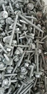1-20 kg TIMCO SCREWS MIXED SIZE TEK ROOFING SCREW HEX HEAD + SEALING WASHER