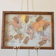 1 x World Map Print Wedding Table Plan / Print