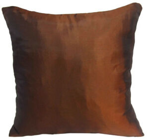 Ja128a 2 Pcs x Bronze Poly Taffeta Plain Cushion Cover/Pillow Case*Custom Size*
