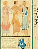 Vintage McCall 1930's Full Size Reproduction Apron Sewing Pattern #248