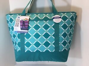 California Innovations Artic Zone Aqua Insulated Tote Bag XXL Hot Frozen Food