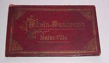 Leporello Rhein - Panorama Mainz - Cöln um 1870 - 1890 Lithografie !