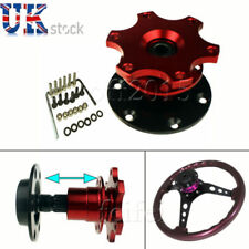 QUICK RELEASE STEERING WHEEL HUB ADAPTER BOSS KIT FIT MOMO  RED UK