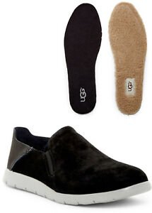 UGG Mens Knox Slip-On Sneaker Twinsole Water Resistant Suede Shoe BLACK Size 8.5