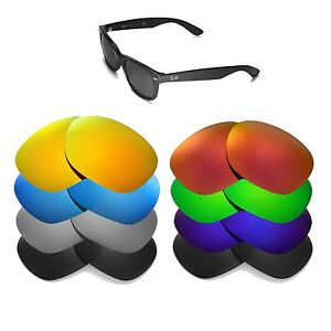 Walleva Replacement Lenses for Ray-Ban Wayfarer RB2132 55mm - Multiple Options