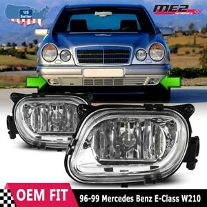 For Mercedes Benz E-Class 96-99 Factory Replacement Fit Fog Lights Clear Lens
