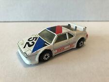 MATCHBOX #52 BMW M1 WHITE W/BLACK INTERIOR RACE CAR MADE IN MACAU H