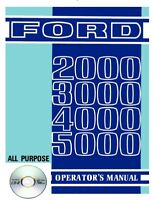 Ford 2000 3000 4000 5000 Tractor Owners Operators Manual CD - Free Fast Shipping
