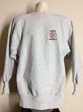 Vtg 90s Champion Reverse Weave Boston University Sweatshirt Gray Xl Embroidered
