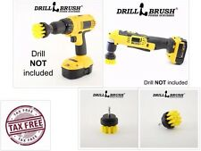 Drill Brush Power Scrubber Scumbusting Scrub Bit Pad Bathroom Tile Cleaning Kit