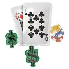 "30"" cl balloon CASINO party BLACKJACK poker LAS VEGAS TEXAS HOLD em FREE SHIP US"