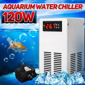120W 30L Aquarium Water Chiller Fish Shrimp Tank Cooling LCD Display AC  UK