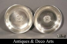 2 Silver Coasters Trays (D: 7.5cm)