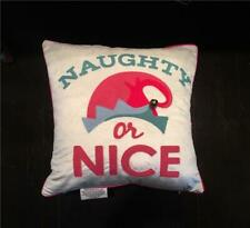 New Nwt Embroidered Naughty or Nice Holiday Pillow Perfect for Elf on the Shelf