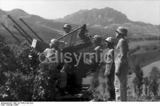 German Army Flak Gun Florence Italy 1944 World War 2 Reprint Photo 6x4 Inch