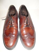 STAFFORD BROWN WINGTIP OXFORDS MENS SHOE SIZE 7.5 D, MADE IN USA
