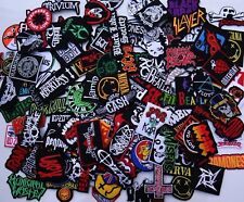 Random Lot of 30 Rock Band Patches Iron on Music Punk Roll Heavy Metal Sew