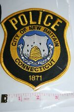 ORIGINAL US CLOTH POLICE PATCH CITY OF NEW BRITAIN CONNECTICUT