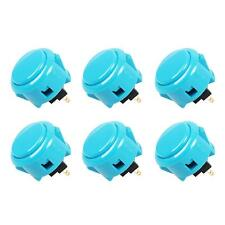6x Arcade Sanwa OBSF-30 Buttons Mad Catz SF4 Tournament Joystick Compatible blue