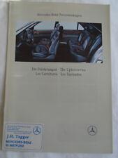 Mercedes Upholsteries brochure Jun 1991 multilingual text