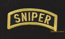 SNIPER TAB HAT PATCH US ARMY MARINES NAVY SEAL TEAM AIR FORCE PIN UP USCG RIFLE