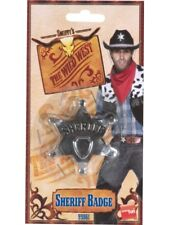 Métal Sheriff Badge Far West Cow-boy Officier Accessoire Déguisement