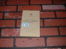 GENUINE HUMBER PULLMAN LIMOUSINE MK 2 OWNERS HANDBOOK / MANUAL. 1951.
