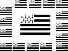 20 autocollants  stickers Vinyle drapeau BRETON