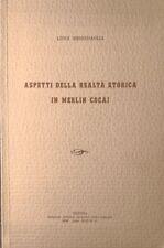 MESSEDAGLIA ASPETTI DELLA REALTÀ STORICA IN MERLIN COCAI OFFICINE FERRARI 1939