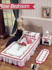 Rose Bedroom Fashion Doll Barbie Plastic Canvas PATTERN/INSTRUCTIONS Leaflet