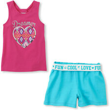 NWT The Children's Place Pink Tank & Blue Short 2 piece set S (5/6)
