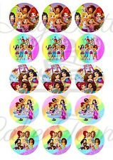 Edible Cupcake Toppers LEGO FRIENDS PRE CUT - Highest Australian Quality