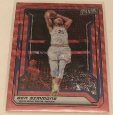 2019 Panini National VIP Gold Pack Ben Simmons Red Wave /25 76ers