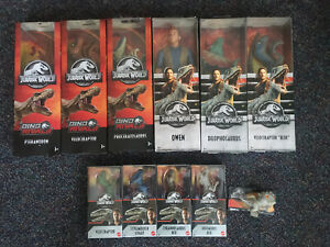 "6 New 12"" Jurassic World Figures, 4 6"" Figures & 1 Snap Squad- Indominus Rex"