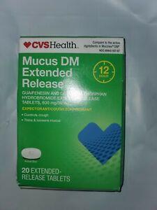 CVS Health Maximum Strength Mucus DM Extended Release Tablets 20ct EXP:9/21 (8A)