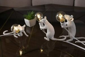 Seletti Mouse Table Lamp Modern Led Resin Rat Desk Lamp Bedroom Bedside Light