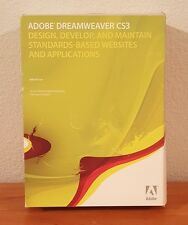 Adobe Dreamweaver Creative Suite 3 CS3 MAC Retail Box - 2 Disc