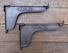 Pair Of Large Industrial  GWR 1833 Style Cast Iron Shelf Brackets 200mm Deep