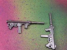 3 Machine Guns Tommy Gun Large Gunmetal Charms Charm Pendants Jewelry Making