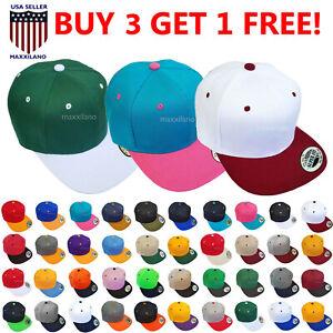 Snapback Hat Hip-Hop Baseball Cap for Men One Size Adjustable Hats Flat Bill