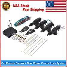 Universal 4 Door Car Remote Central Door Lock Locking Keyless Entry System Kit