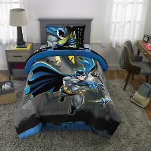 4pc Batman Kids Microfiber Bed-In-A-Bag Bedding Bundle Set Comforter Sheet Twin