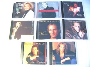 LOT of 8 CDs BARRY MANILOW, MICHAEL BOLTON