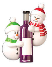 PERSONALIZED CHRISTMAS ORNAMENT COUPLES-WINE BOTTLE-COUPLE