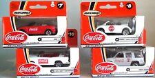 COKE COCA COLA MATCHBOX MATTEL WHEELS 4 CARS