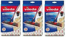 3 PEZZI VILEDA RICAMBIO REVOLUTION 2 in 1 PANNO RICAMBIO IN MICROFIBRA.