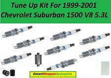 Tune Up Kit for 1999-2001 Chevrolet Suburban V8 5.3L Spark Plug, Fuel Air Filter