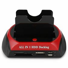 "All in One Dual 2.5""/3.5"" IDE SATA HDD Hard Drive Disk Docking Station USB Dock"