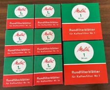 MELITTA RUNDFILTERBLÄTTER 6 x 100 St. 1a 60mm/ 2 x 100 St. 1 94mm Retro Set